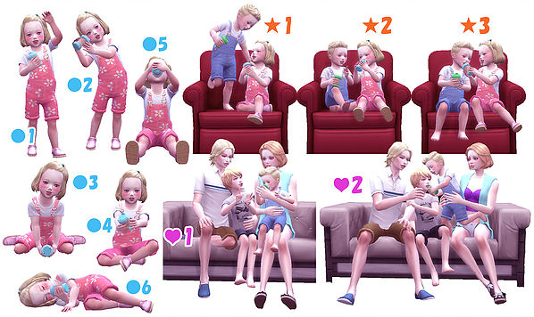 Dink pose toddler at A luckyday image 663 Sims 4 Updates