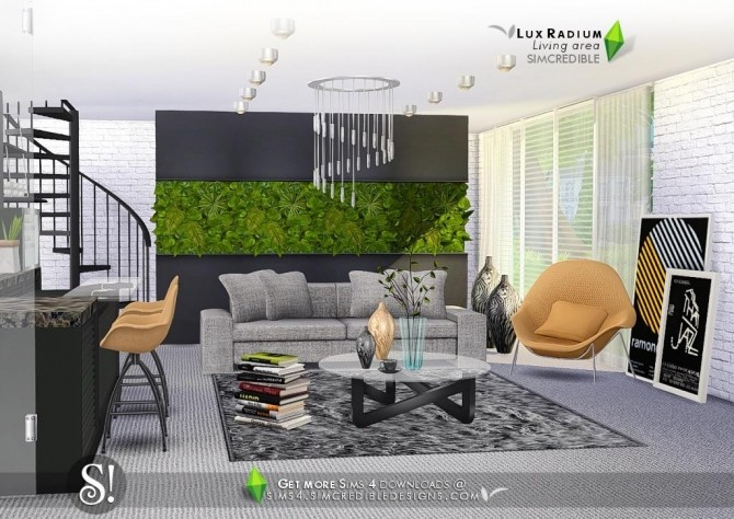 Lux Radium living area 13 meshes at SIMcredible! Designs 4 image 666 670x474 Sims 4 Updates
