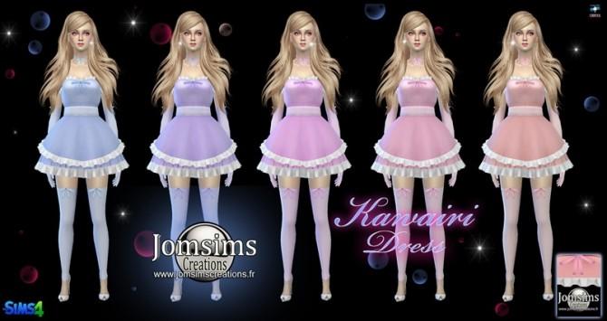 Kawairi maid dress at Jomsims Creations image 668 670x355 Sims 4 Updates
