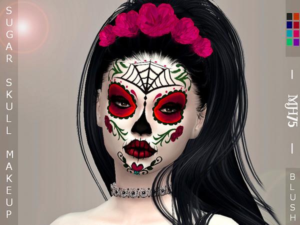 Sims 4 Sugar Skull Makeup by Margeh 75 at TSR