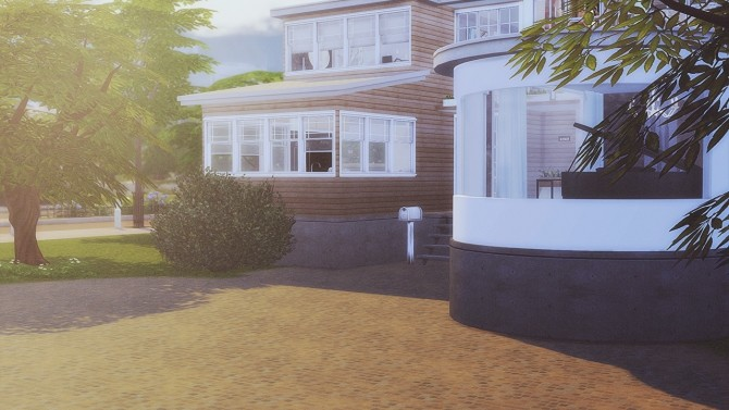 Sims 4 #73 Curved house at SoulSisterSims