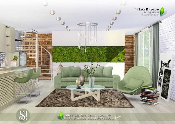 Lux Radium living area 13 meshes at SIMcredible! Designs 4 image 677 670x474 Sims 4 Updates