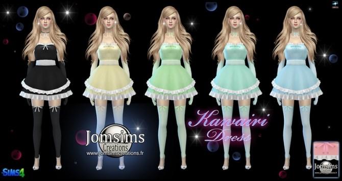 Kawairi maid dress at Jomsims Creations image 679 670x355 Sims 4 Updates