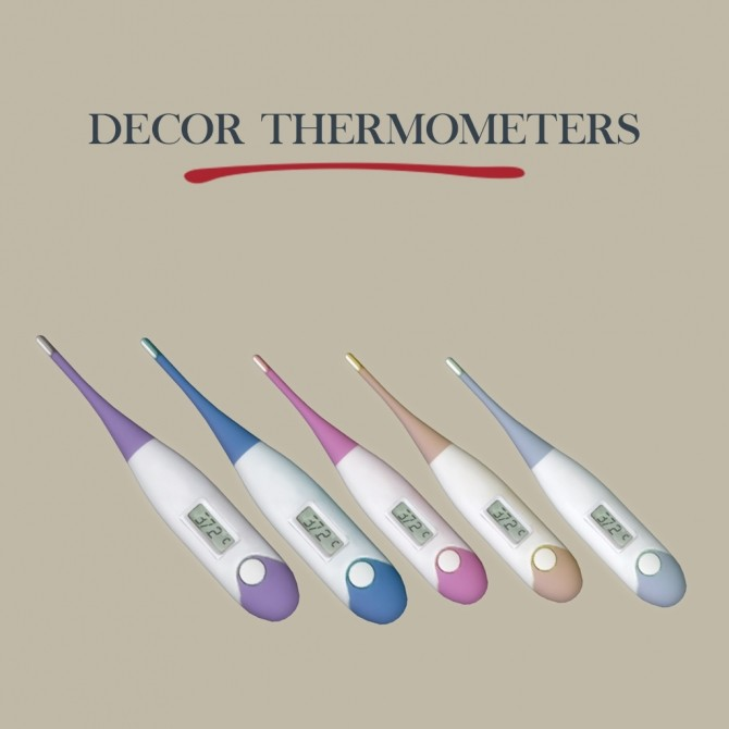 Sims 4 Decor Thermometers at Leo Sims