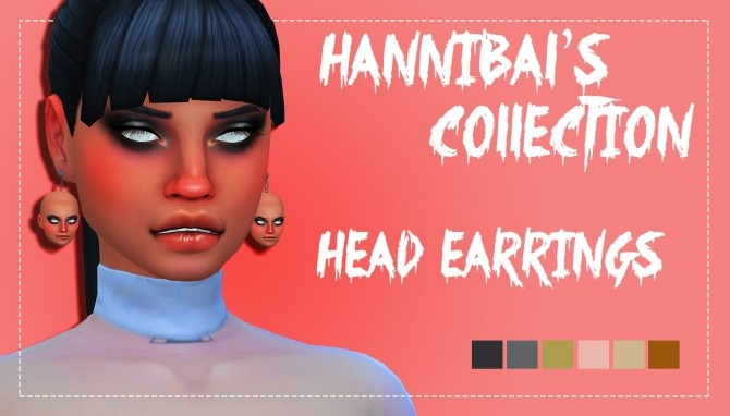 Sims 4 Hannibal's Collection Head Earrings by Weepingsimmer at SimsWorkshop