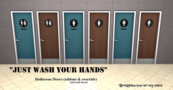 Bathroom Door Addons Override By Lemememeringue At Mod The Sims