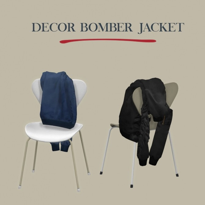 Sims 4 Decor Bomber Jacket at Leo Sims