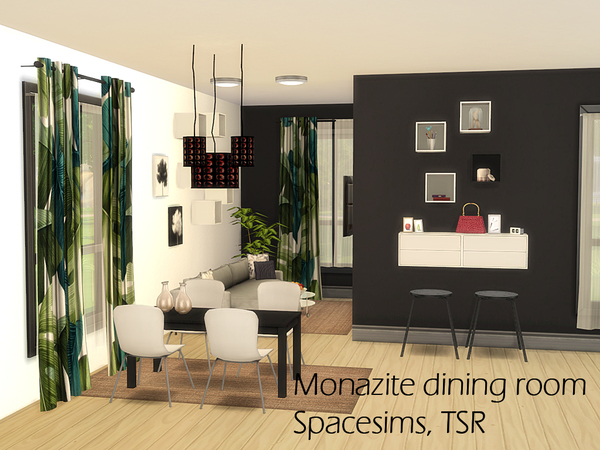 Monazite dining room by spacesims at tsr sims 4 updates for Dining room ideas sims 4