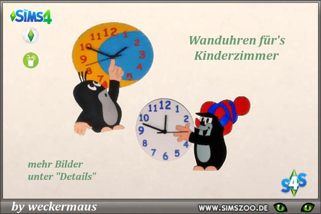 Sims 4 Kidsroom Clocks by weckermaus at Blacky's Sims Zoo