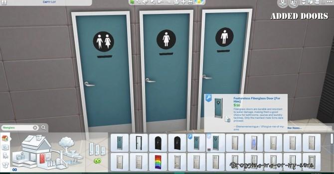 Bathroom Door Addons & Override by lemememeringue at Mod The Sims image 7311 670x350 Sims 4 Updates