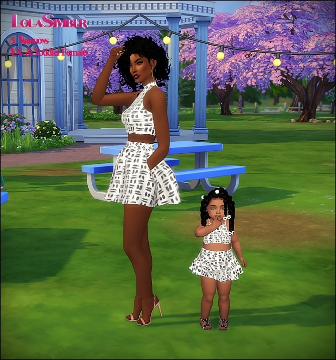 5 Mommy And Me Matching Outfits At The Beautiful Sims Of