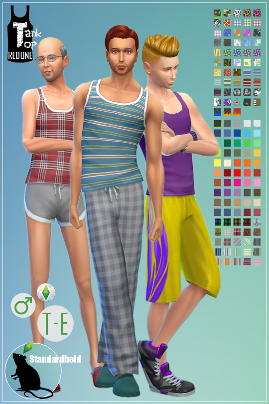 Sims 4 Tank Top Redone by Standardheld at SimsWorkshop