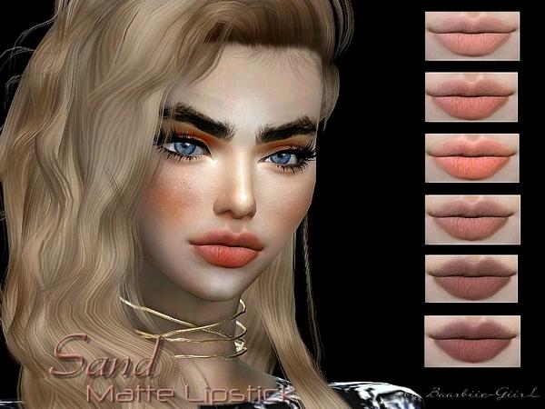 Sims 4 Sand Matte Lipstick by Baarbiie GiirL at TSR