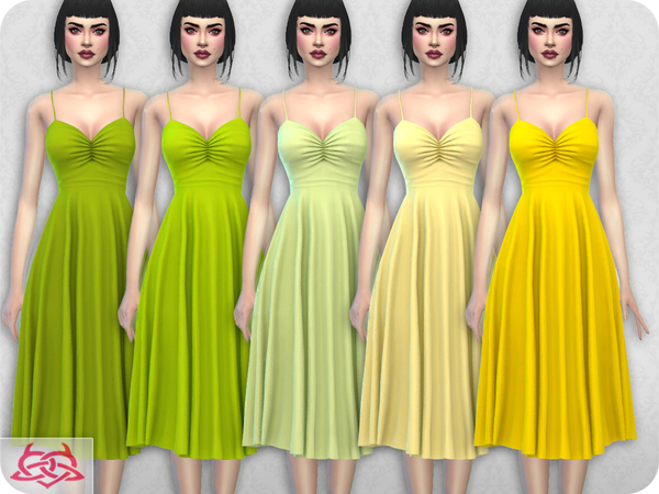Sims 4 Claudia dress RECOLOR 3 by Colores Urbanos at TSR
