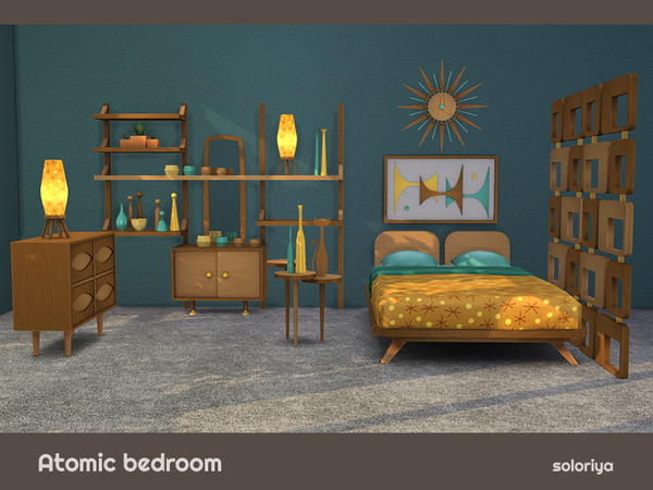 Atomic Bedroom by soloriya at TSR image 764 Sims 4 Updates