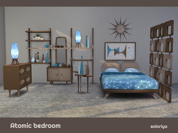 Atomic Bedroom by soloriya at TSR image 794 Sims 4 Updates