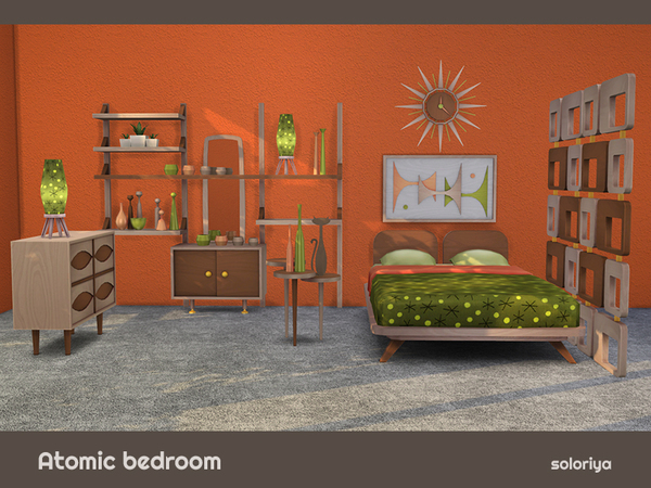 Atomic Bedroom by soloriya at TSR image 804 Sims 4 Updates