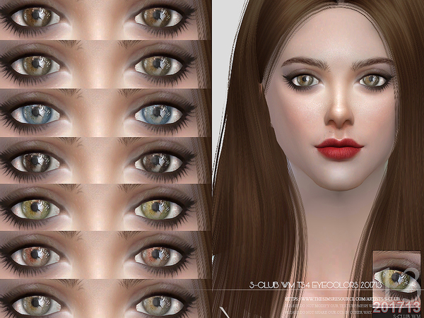 Sims 4 Eyecolors 201713 by S Club WM at TSR