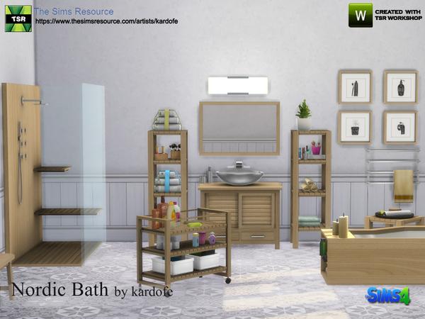Sims 4 Nordic Bath by kardofe at TSR