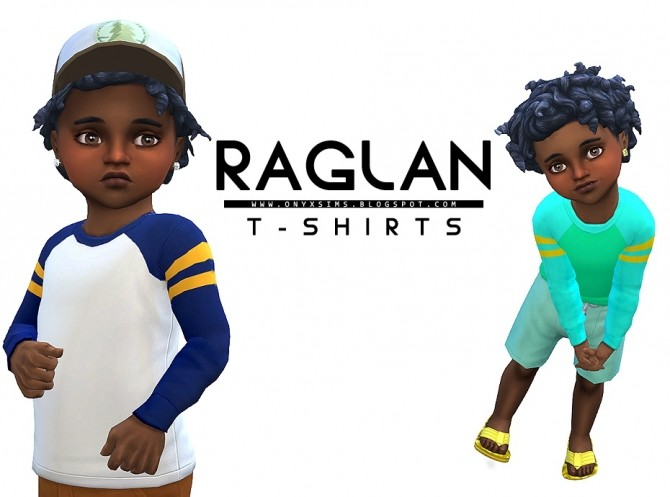 Sims 4 Raglan T Shirts for Toddlers at Onyx Sims