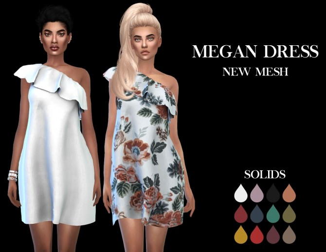 Megan Dress at Leo Sims image 8115 670x518 Sims 4 Updates