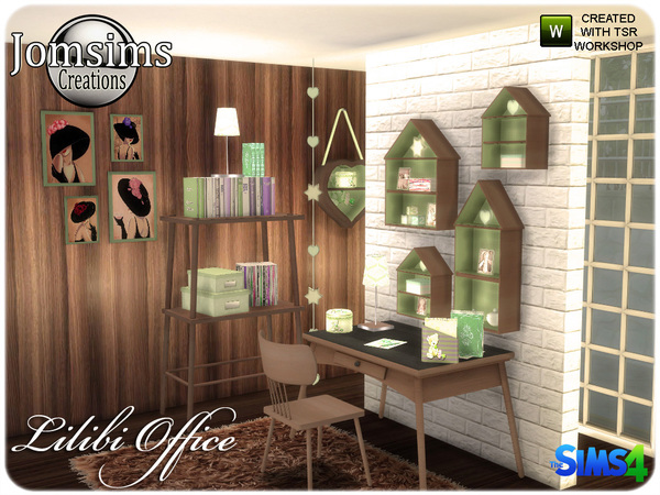Lilibi office by jomsims at TSR image 820 Sims 4 Updates