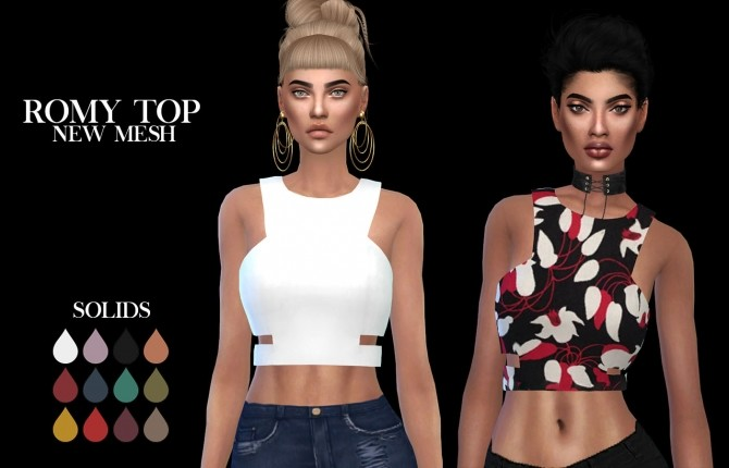 Romy Top at Leo Sims image 8310 670x430 Sims 4 Updates