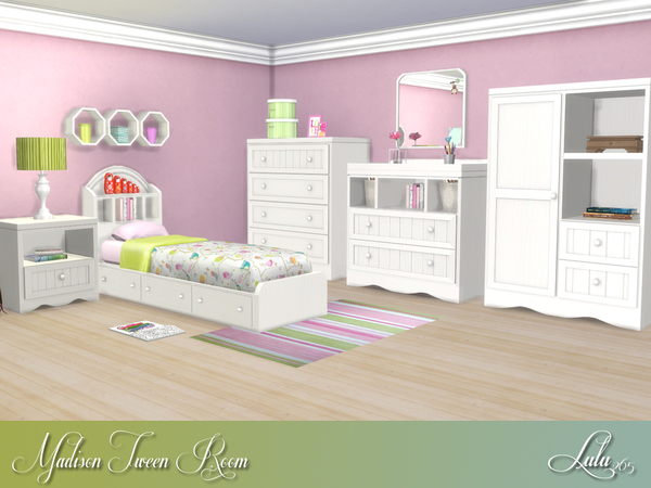 Madison Tween Bedroom by Lulu265 at TSR image 840 Sims 4 Updates