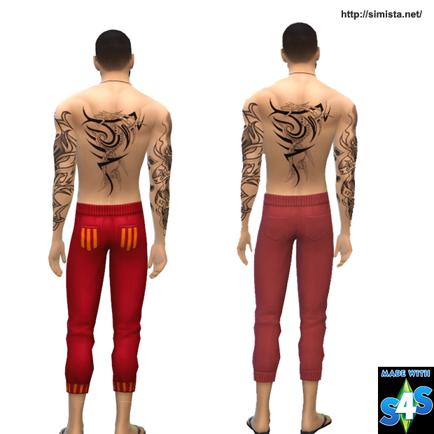 Sims 4 Drawstring Pants Recolor Request at Simista