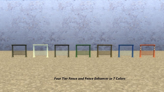 Sims 4 Airy Metal Fencing X Style and FourTier by Snowhaze at Mod The Sims