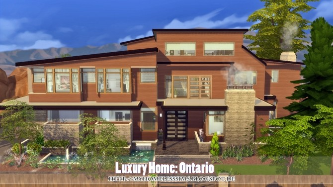 Luxury Home Ontario at Homeless Sims image 855 670x376 Sims 4 Updates