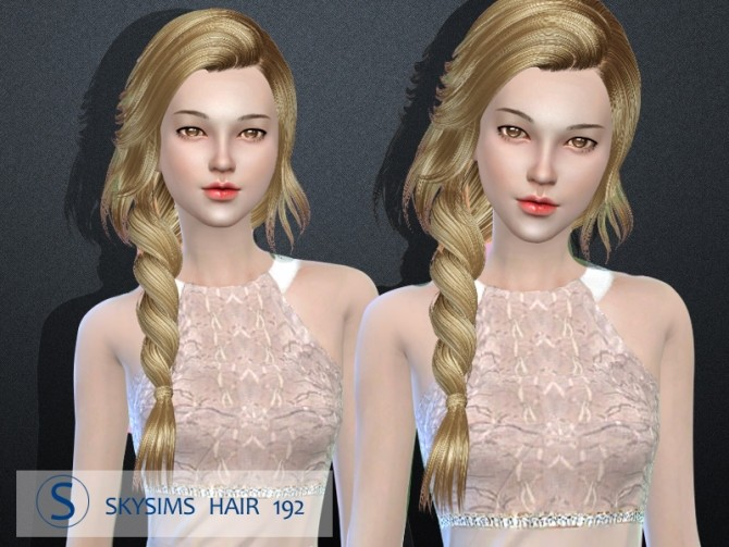 Sims 4 Hair 192 by Skysims at Butterfly Sims