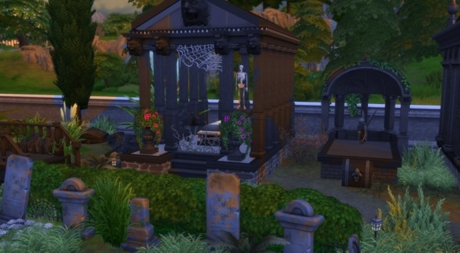 Sims 4 The Cursed Cemetery by Pyrénéa at Sims Artists