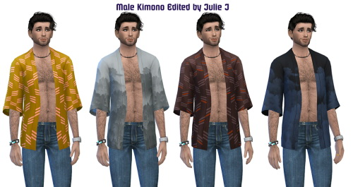 Sims 4 Male Kimono Edited at Julietoon – Julie J