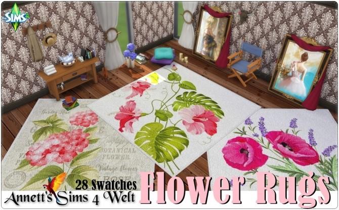 Sims 4 Flower Rugs at Annett's Sims 4 Welt