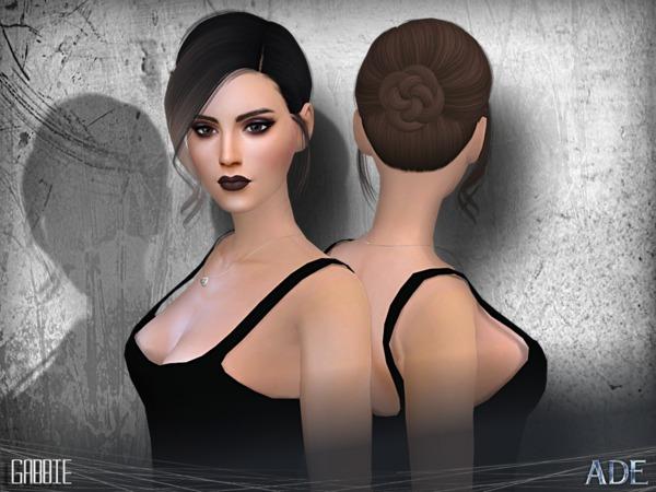 Sims 4 Gabbie hair by Ade Darma at TSR