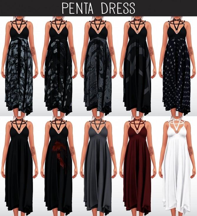 Sims 4 Penta Dress at Elliesimple