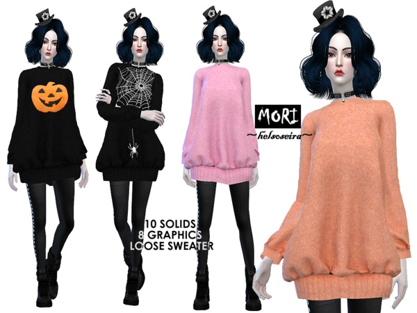 Mori Oversized Sweater By Helsoseira At Tsr 187 Sims 4 Updates
