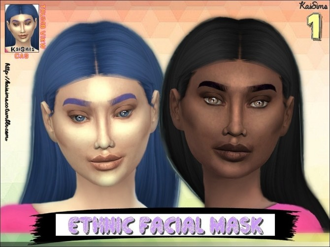 Ethnic Facial Mask Set 1 by KaiSimsCC at SimsWorkshop image 8813 670x503 Sims 4 Updates
