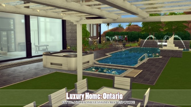 Luxury Home Ontario at Homeless Sims image 885 670x376 Sims 4 Updates