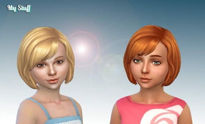 Sims 4 Layla Hairstyle for Girls at My Stuff