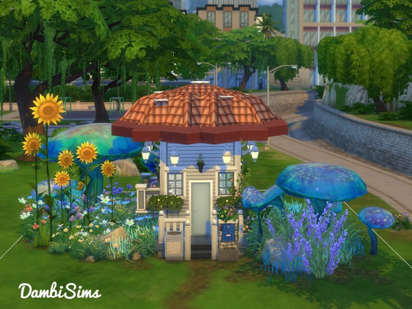 3x3 Tiny Mushroom House by dambisims at TSR image 894 Sims 4 Updates