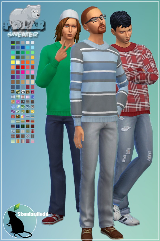 Sims 4 Polar Sweater by Standardheld at SimsWorkshop