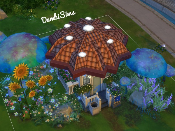 3x3 Tiny Mushroom House by dambisims at TSR image 904 Sims 4 Updates