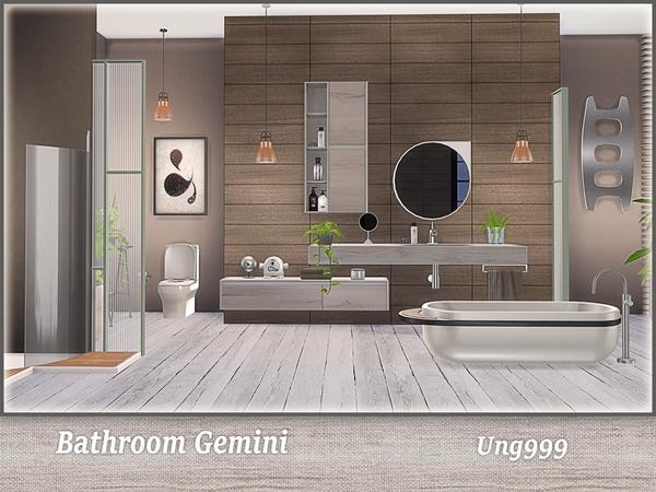 Sims 4 Bathroom Gemini by ung999 at TSR