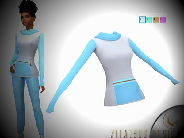 Sims 4 Soft Pastel outfit by ZitaRossouw at TSR