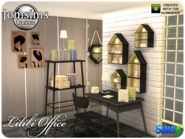Lilibi office by jomsims at TSR image 920 Sims 4 Updates