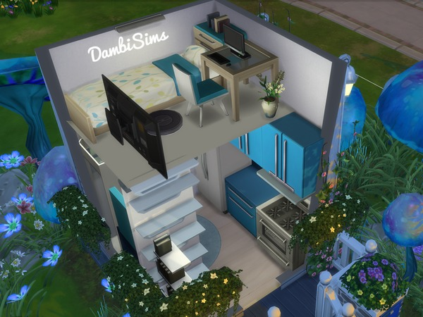 3x3 Tiny Mushroom House by dambisims at TSR image 924 Sims 4 Updates