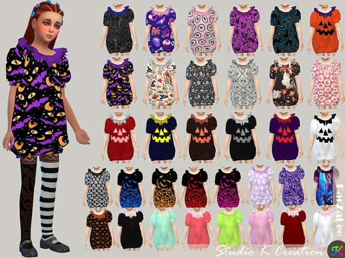 Dark Souls puff dress for kids at Studio K Creation image 936 670x502 Sims 4 Updates