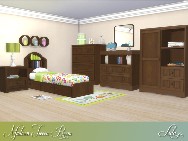 Madison Tween Bedroom by Lulu265 at TSR image 938 Sims 4 Updates